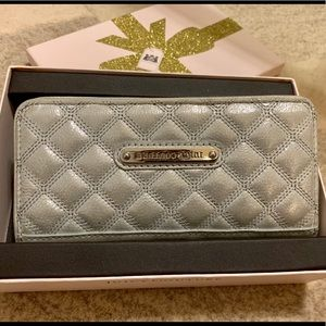 Silver Quilted Sparkle Leather Wallet